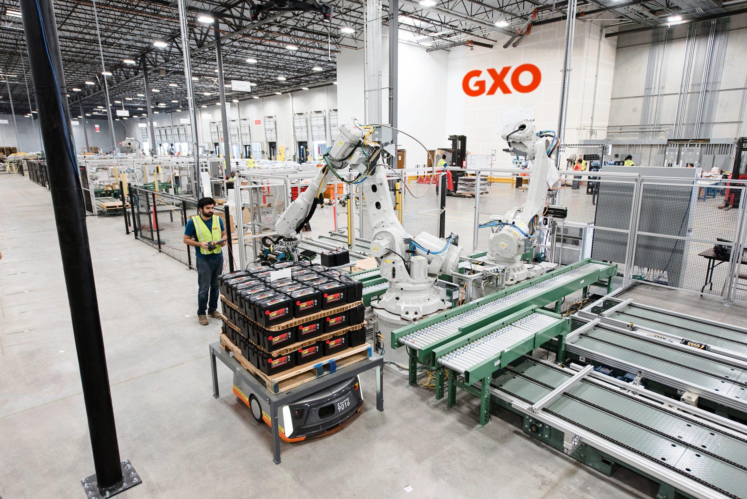 GXO robotic arm and cobot