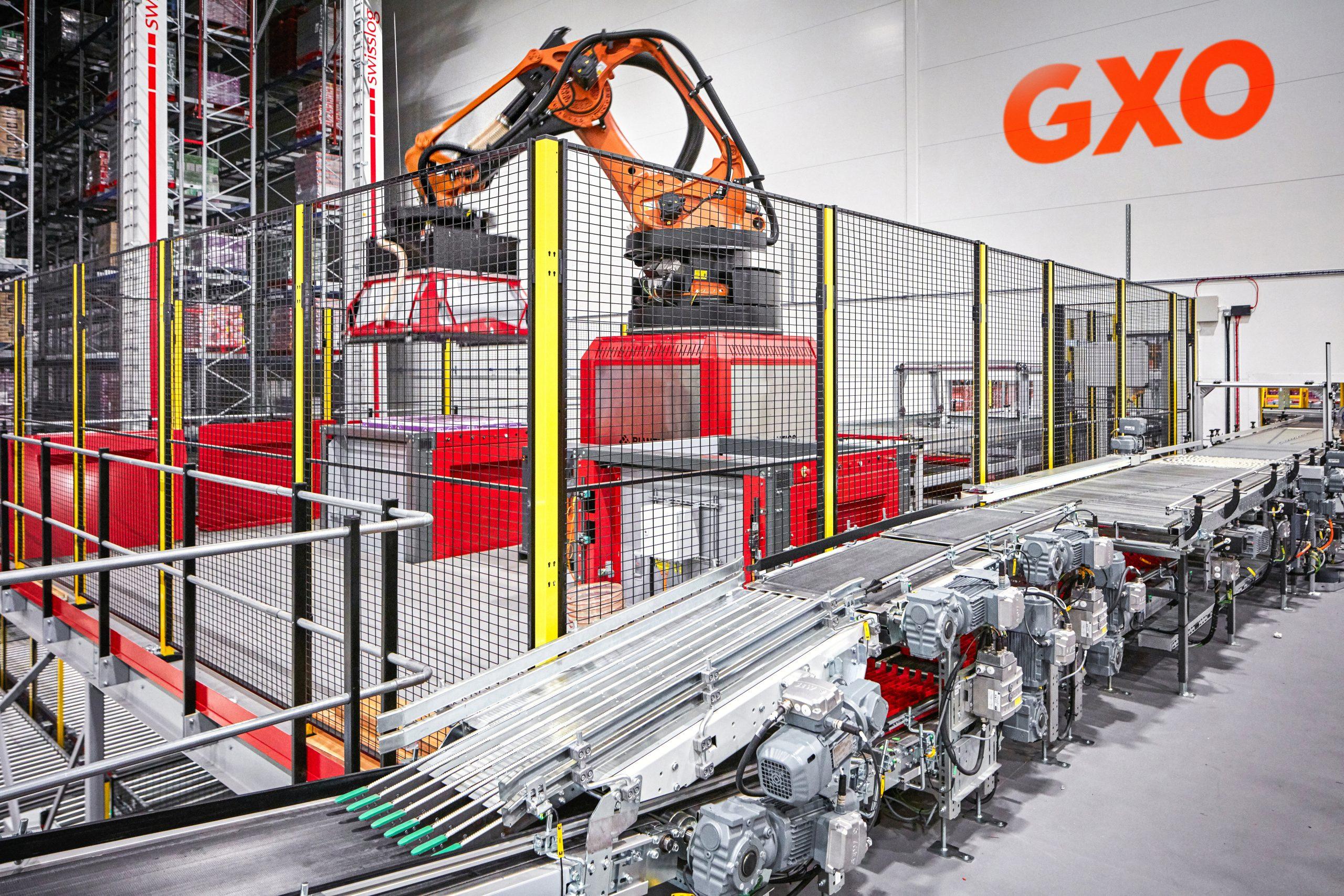 GXO robot arm and conveyor